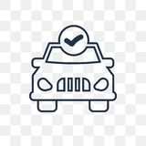 Car repair check vector icon isolated on transparent background, linear Car repair check transparency concept can be used web and stock illustration