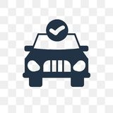 Car repair check vector icon isolated on transparent background, royalty free illustration