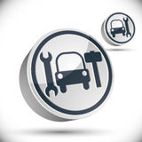 Car repair 3d vector icon. Royalty Free Stock Photos