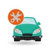 Car repair design, vector illustration Stock Photography