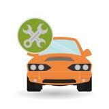 Car repair design, vector illustration Royalty Free Stock Image