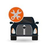 Car repair design, vector illustration. Car concept with tools  icon design, vector illustration 10 eps graphic Stock Photography