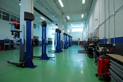 Car repair garage, autoservice Royalty Free Stock Photos