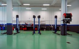 Car repair garage, autoservice Stock Images