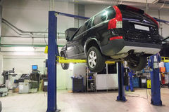 A car repair garage. Image of a car repair garage Stock Image