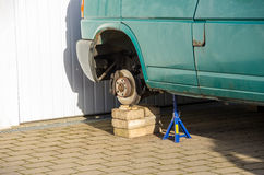 Car Repair, Garage, Wheel Change Royalty Free Stock Photography