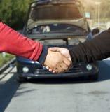 Car Repair Handshake Stock Photography