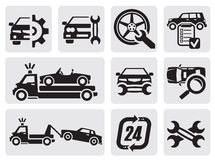 Car repair icons stock illustration