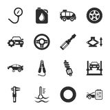 Car repair 16 icons universal set for web and mobile. Car repair  16 icons universal set for web and mobile flat Royalty Free Stock Photos