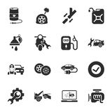 Car repair 16 icons universal set for web and mobile. Flat Vector Illustration