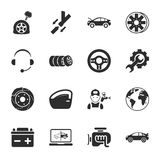 Car repair 16 icons universal set for web and mobile. Car repair  16 icons universal set for web and mobile flat Royalty Free Stock Image