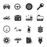 Car repair 16 icons universal set for web and mobile. Car repair  16 icons universal set for web and mobile flat Stock Image