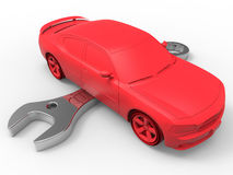 Car repair illustration Royalty Free Stock Photography