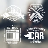 Car repair and racing emblems Royalty Free Stock Photography