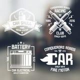 Car repair and racing emblems Royalty Free Stock Photography