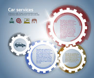 Car-repair-service-horizontal-banner-paint-brush Royalty Free Stock Image