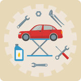 Car repair service icons Royalty Free Stock Image