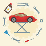 Car repair service icons Stock Photo