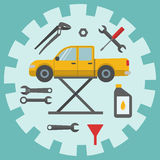 Car repair service icons Stock Images