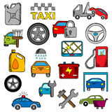 Car and repair service icons Stock Photos