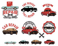 Car repair service labels Stock Photography