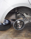Car repair service Wheel parts Maintenance Stock Photo
