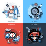 Car Repair Set Royalty Free Stock Photography