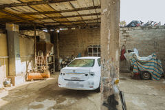 Car repair shop in Iraq shop in Iraq Royalty Free Stock Images