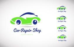 Car repair shop vector logo icon design Royalty Free Stock Photos