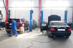 Car repair station Royalty Free Stock Photography