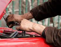 Car Repair. Tool hand red color Stock Photography