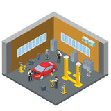 Car repair vehicle service interior indoor room. S Stock Image
