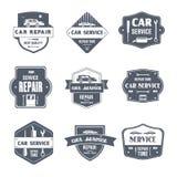 Car Repair - vintage vector set of logos Royalty Free Stock Photos