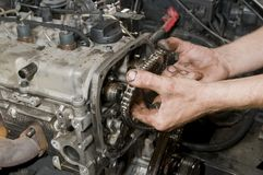 Car repairing Royalty Free Stock Photography