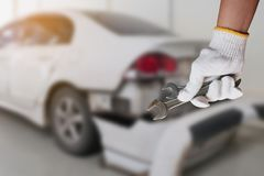Car repairing background Stock Photography