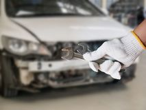 Car repairing background Stock Images