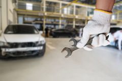 Car repairing background Royalty Free Stock Photography