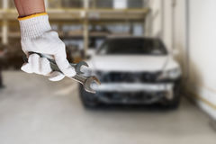 Car repairing background Royalty Free Stock Photo