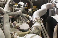 Car repairing engine Car repair. Shop Engine parts Royalty Free Stock Photos