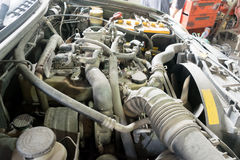 Car repairing engine Car repair. Shop Engine parts Royalty Free Stock Photo