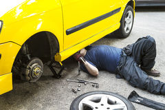 Car Repairing Stock Photography