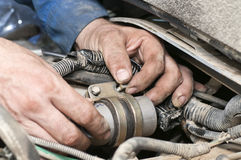 Car repairing work Royalty Free Stock Photography