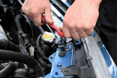 Car repairs by the mechanic Stock Photography