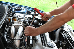 Car repairs process Royalty Free Stock Photo