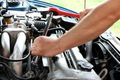 Car repairs process Stock Image