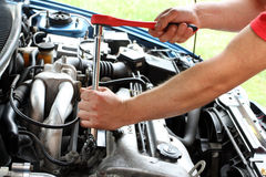 Car repairs process Royalty Free Stock Photo