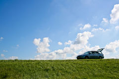Car rest stop Stock Images