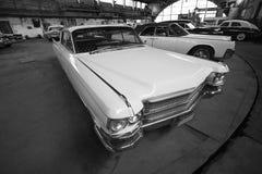 Car retro in garage Stock Images