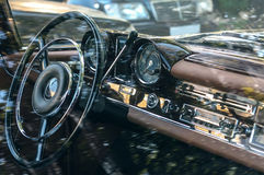 Car retro interior Stock Images