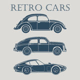 car retro 50s 60s 70s  vector poster Royalty Free Stock Photo